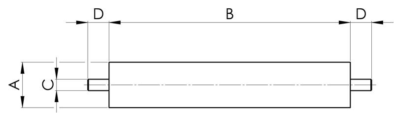 separazione magnetica candelotti magnetici con due perni filettati