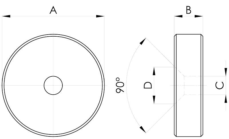 basi magnetiche in neodimio disegno serie g-fs