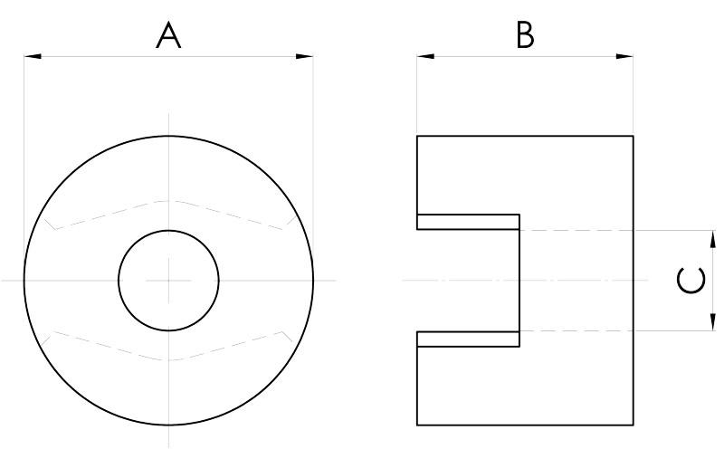 basi magnetiche disegno serie pot c