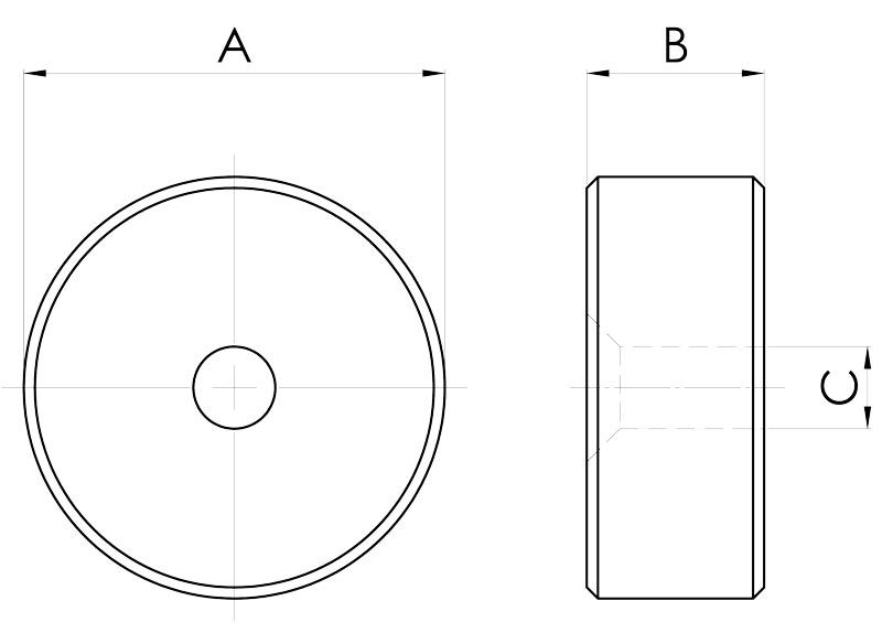 basi magnetiche disegno serie pot p
