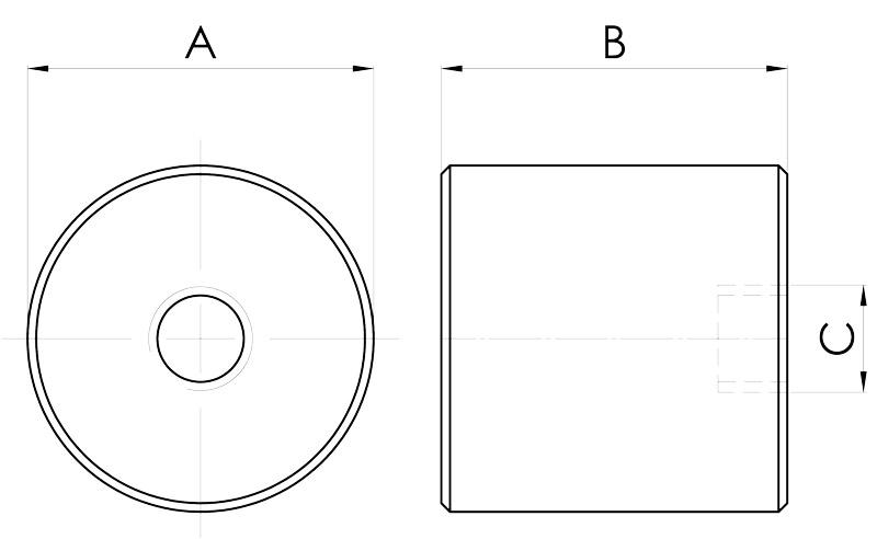 basi magnetiche disegno serie pot