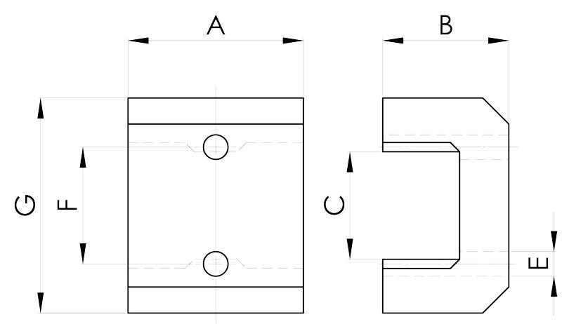 basi magnetiche disegno serie pw