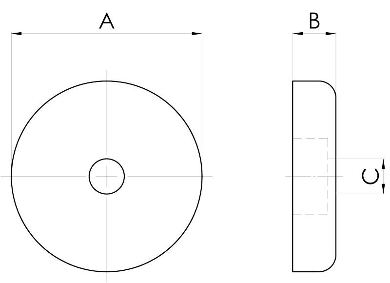 basi magnetiche disegno serie sa