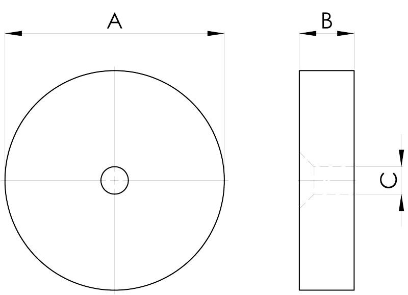 basi magnetiche disegno serie sb