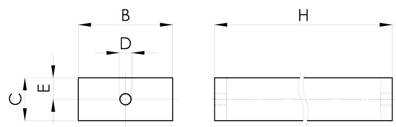 separazione magnetica disegno barra per epuratore 1 foro
