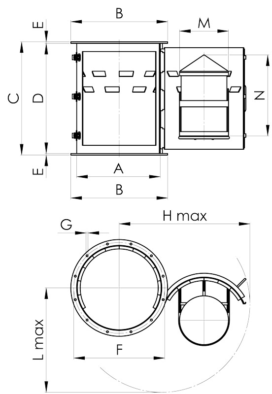separazione magnetica disegno condotte tronche