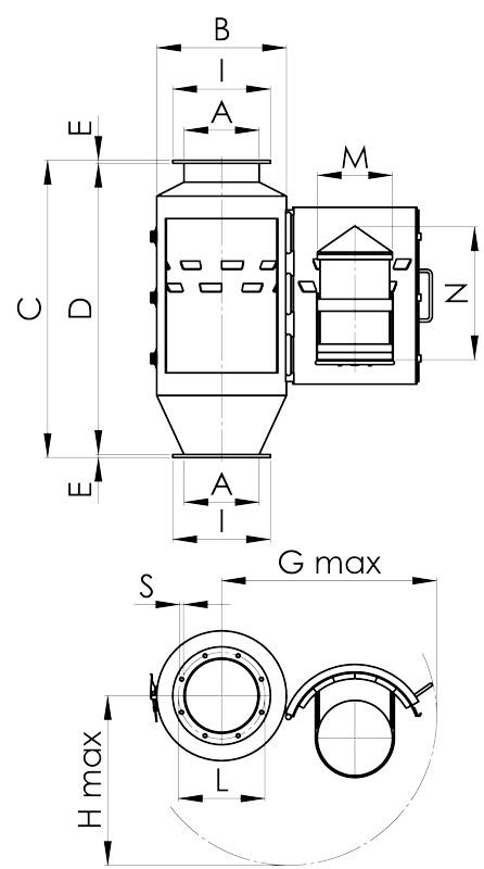 separazione magnetica disegno condotte