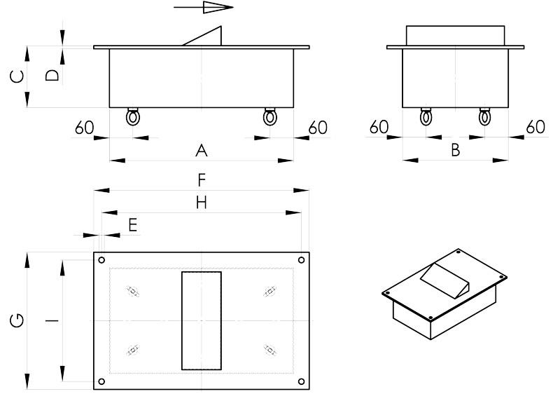 separazione magnetica disegno deferrizatori con scalino centrale