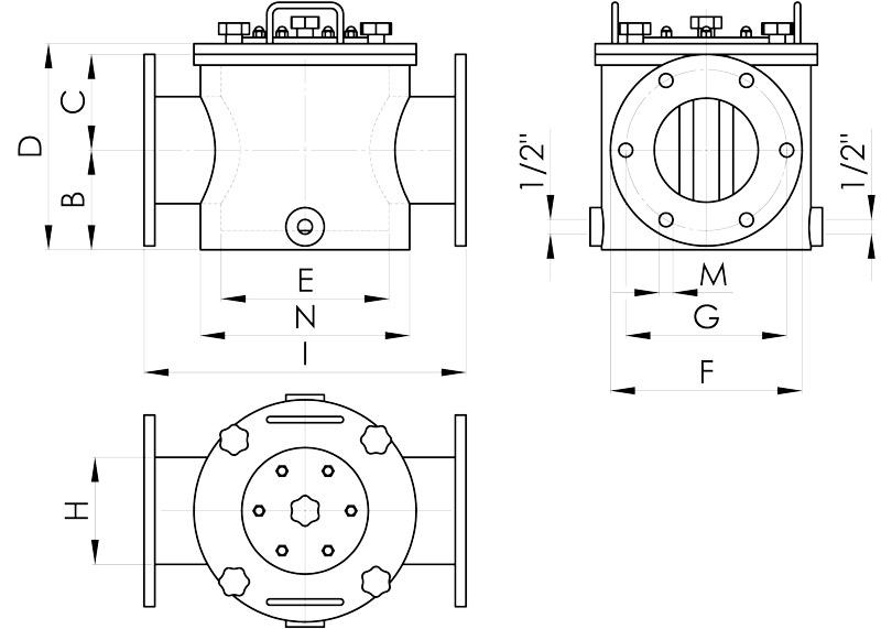 separazione magnetica disegno filtri doppia camera