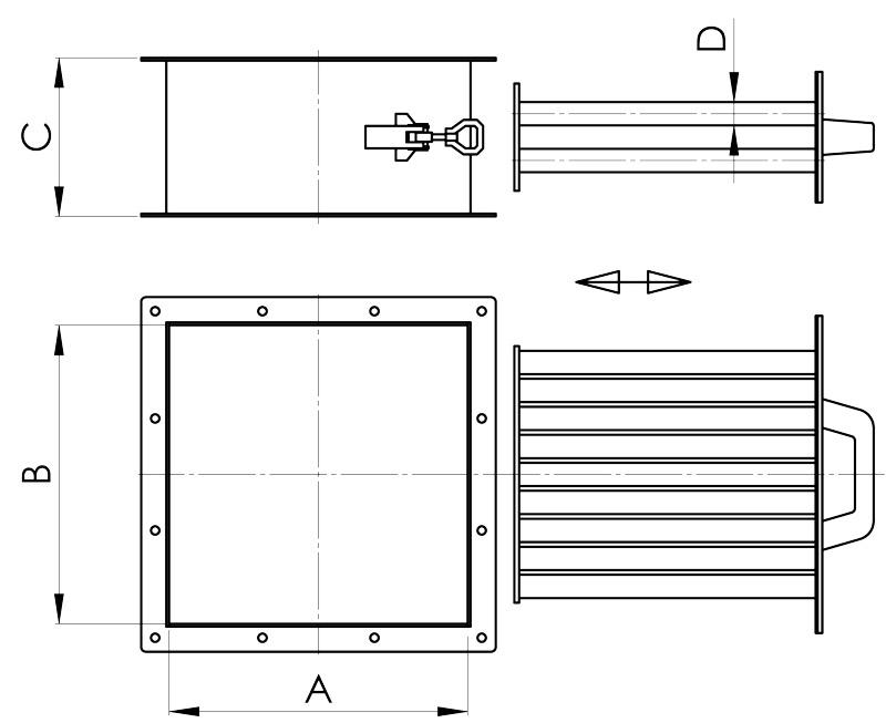 separazione magnetica disegno griglia con cassetto estraibile