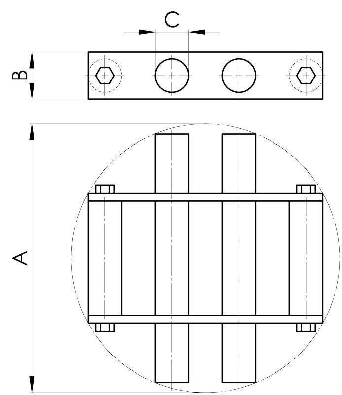 separazione magnetica disegno griglia tonda
