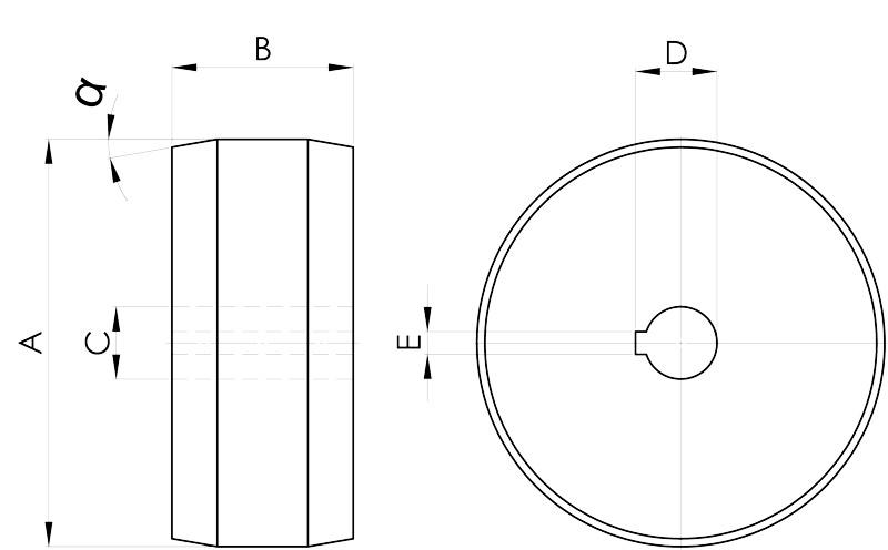 convogliatura magnetica disegno pulegge