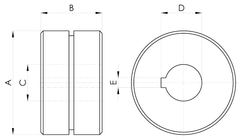 convogliatura magnetica disegno pulegge 1