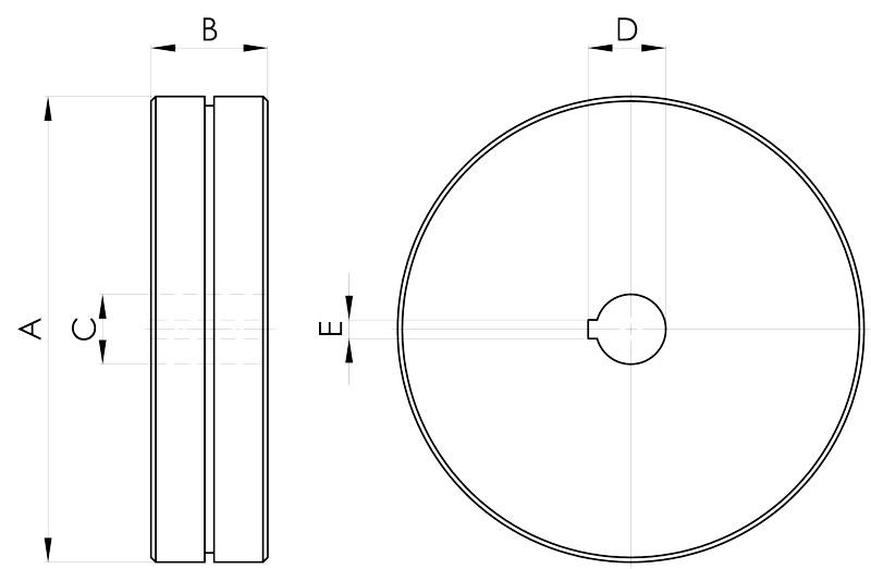 convogliatura magnetica disegno pulegge 2