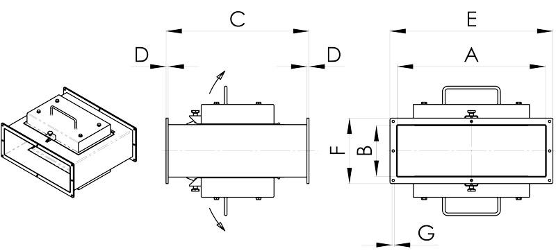 disegno trappola magnetica lineare