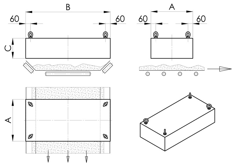 separazione magnetica disegno deferrizzatore piano